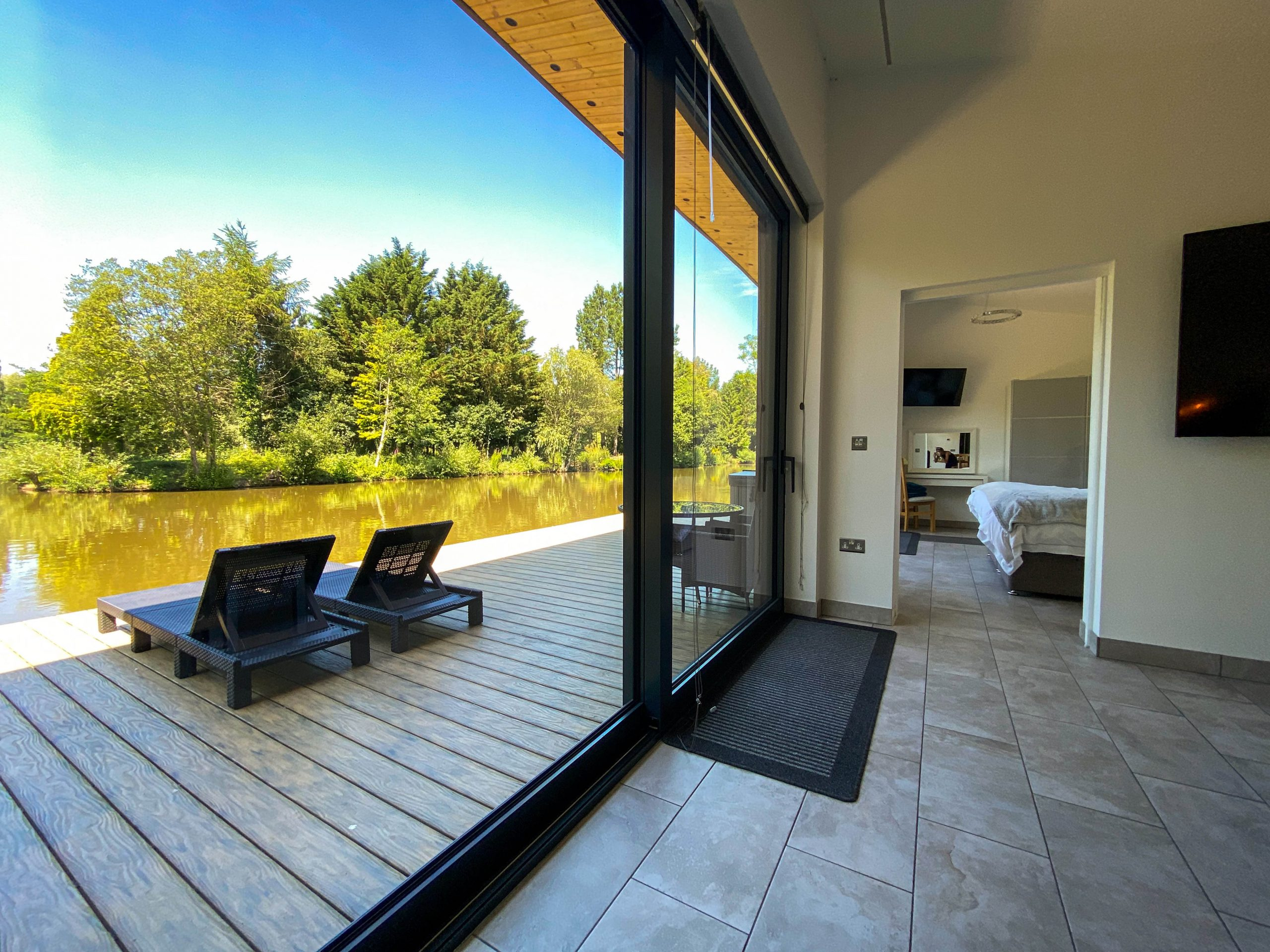 Huge sliding doors on to your private decking area