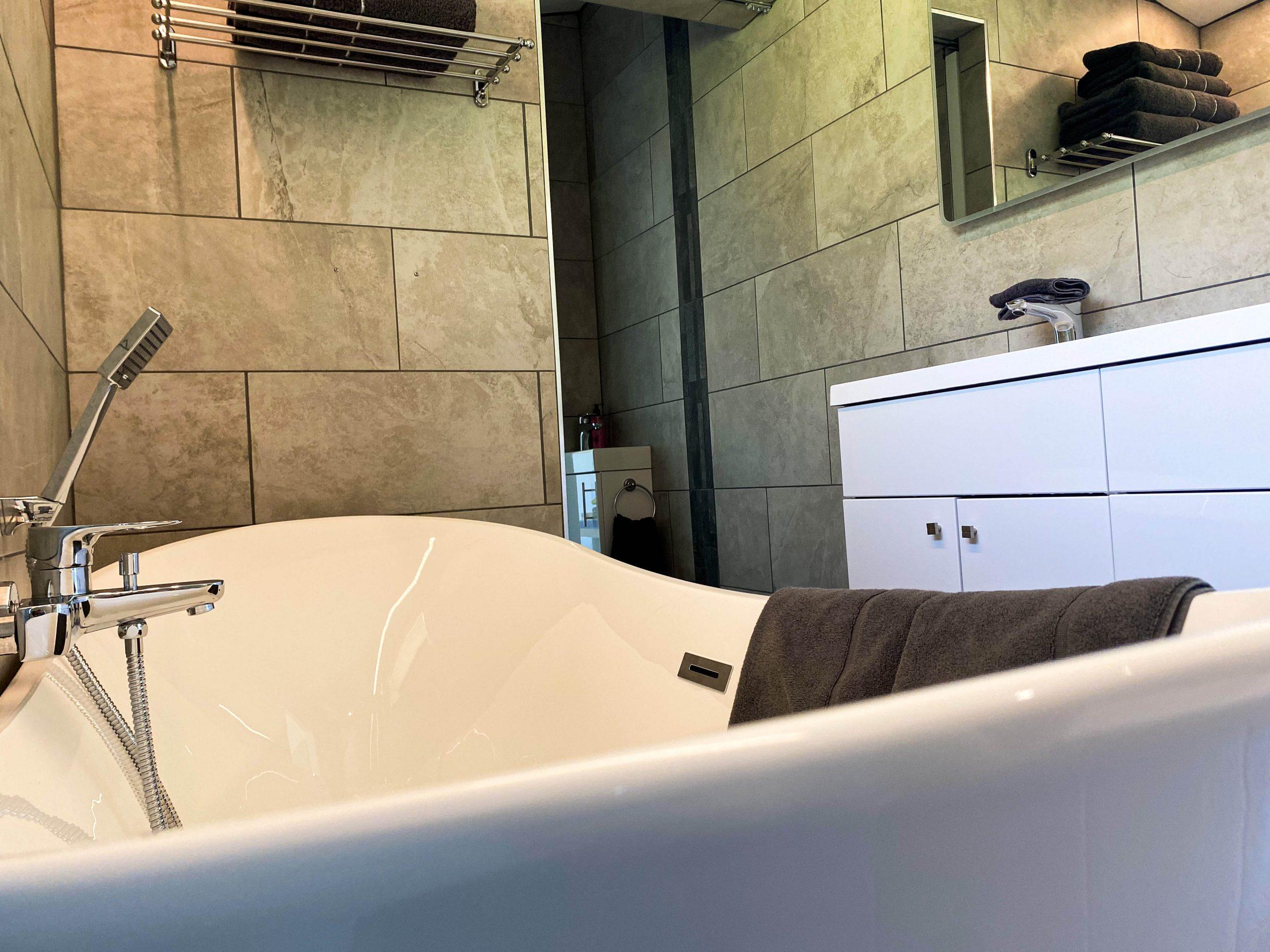 The luxurious freestanding bath